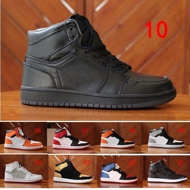 Купить Оптом 2018 Nike Air Jordan 1 Retro Sneakers Высокое Качество 1 Og  Чикаго Золото Топ 3 Королевских Порожденных Мужчин 1s Hare Game Royal Unc  Случайные ... 5160deacba7