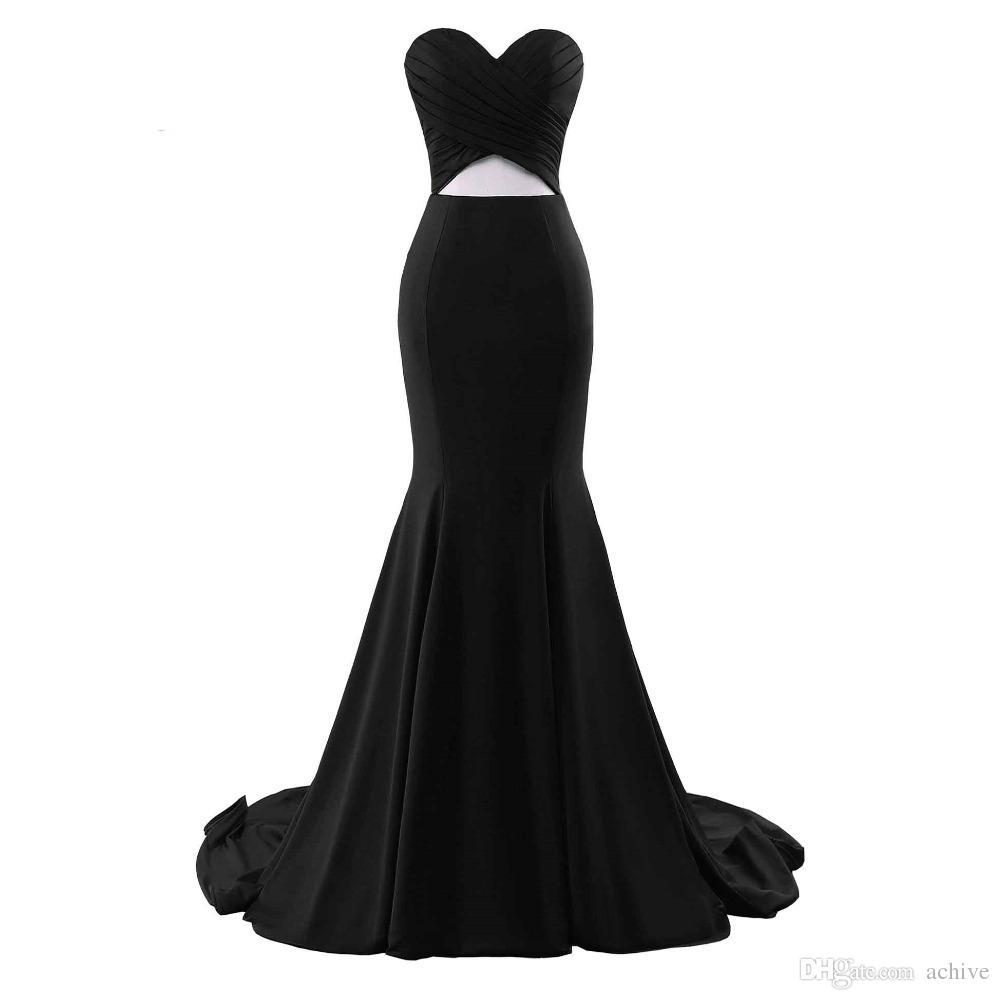 İndirim Gerçek Denizkızı Parti Elbise 2020 Dantelli Şifon Kesim Çıkışları Uzun Abiye Custom Made Seksi Ucuz Yarı Örgün törenlerinde Çin Çevrimiçi Mağaza
