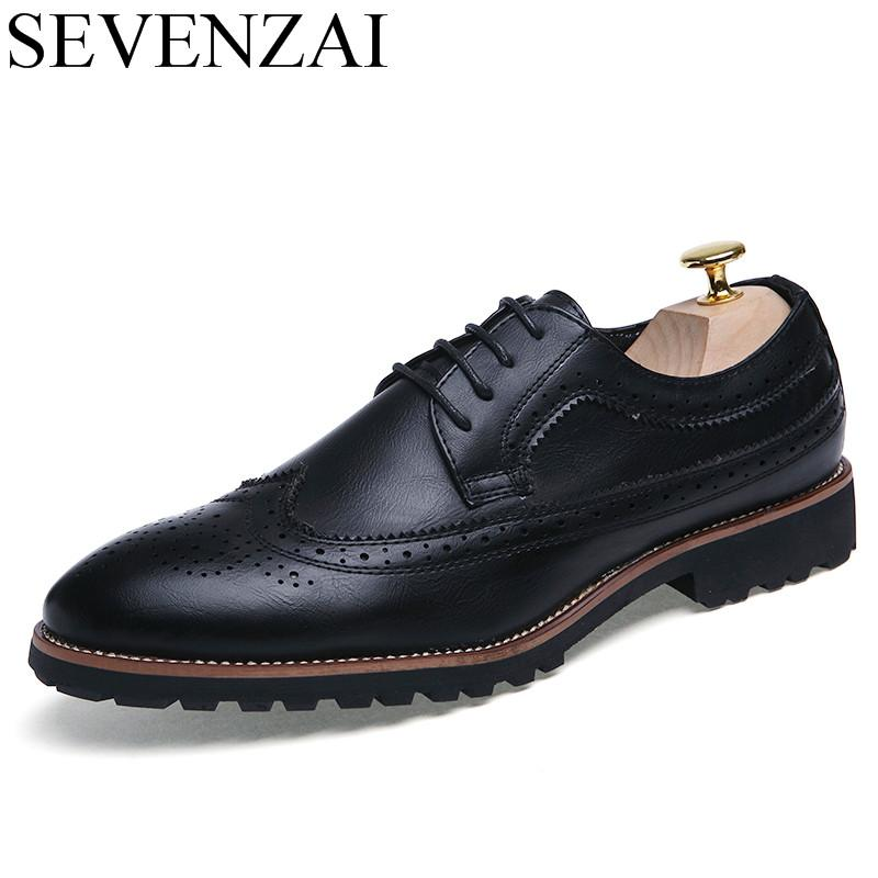 Men Shoes Famous Luxury Brand Leather Formal Office Classic Loafers Pointed  Toe Dress Flats Footwear Brogue Oxford Shoes For Men Boots Shoes White  Mountain ... 1501c692cc7