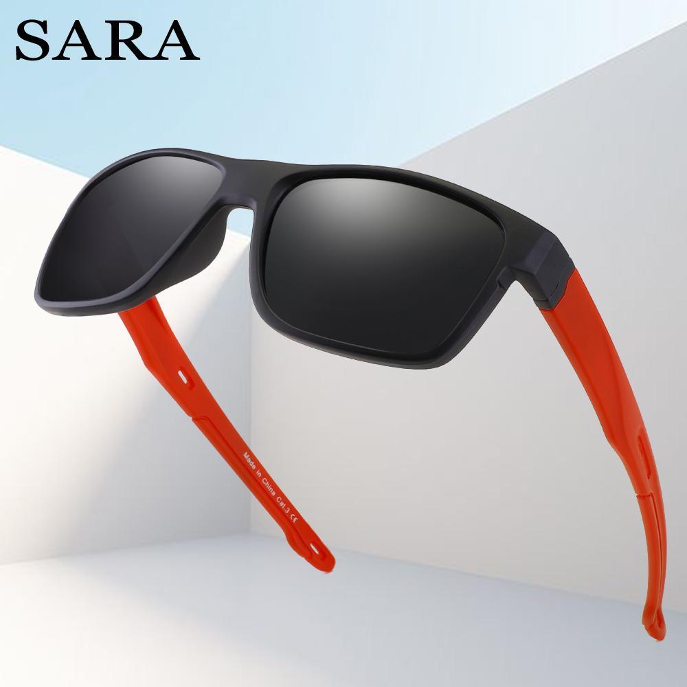 25255f4da3ef9 SARA 2018 New Square Polarized Sunglasses Men High Quality Brand Designer  Male Retro Vintage Shades Sun Glasses For Men Women Cat Eye Sunglasses  Round ...