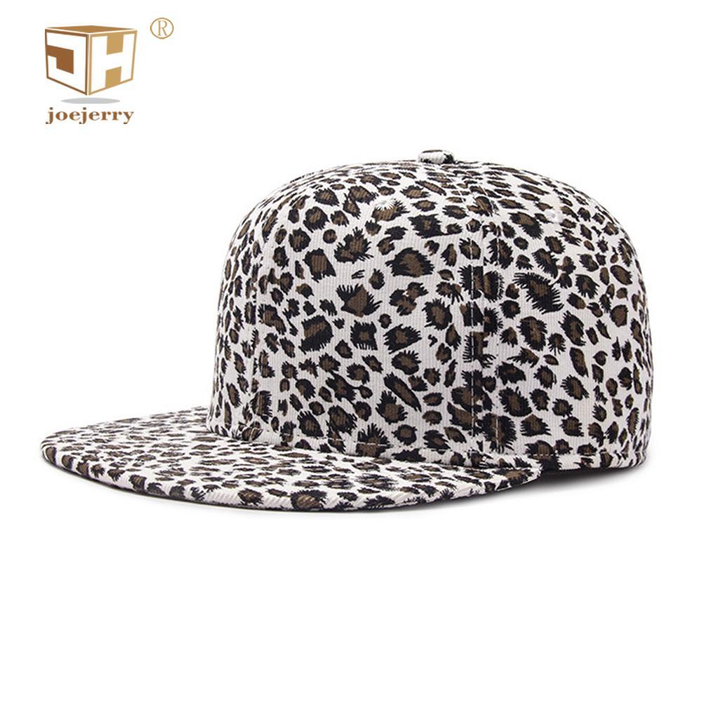 2f53069b83b8f JOEJERRY Baseball Cap Leopard Hat Snapback Hip Hop Flat Cap 2018 For Men  Women Grils Boys High Quality Baseball Caps For Men Mesh Hats From  Heathere