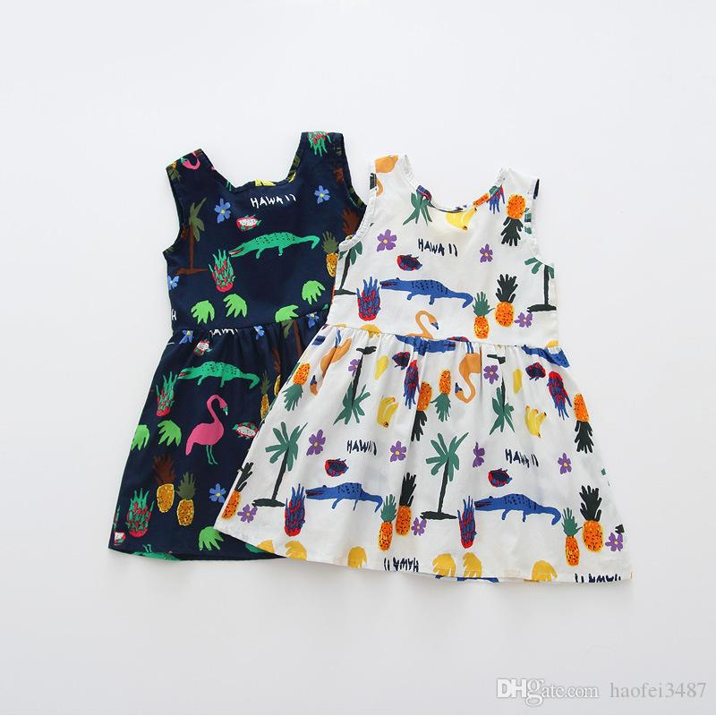 f9751db83ab 2019 New 2018 Girls Summer Dress Kids Clothes Girls Party Dress Children  Clothing Pink Princess Flower Girl Dresses Hot Sale From Haofei3487