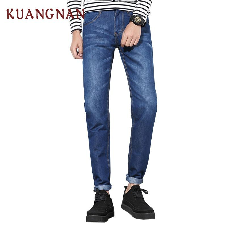 01f99327f99 2019 2018 New Blue Skinny Jeans Men Joggers Vaqueros Hombre Mens Stretch  Jeans Hip Hop Slim Jean Homme Button Fly Denim Pant From Roberr