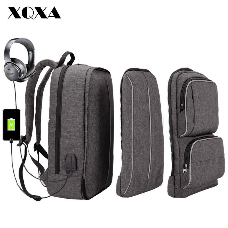 Xqxa Backpack Men 17 Inch Laptop Backpack School Bag For Teenagers