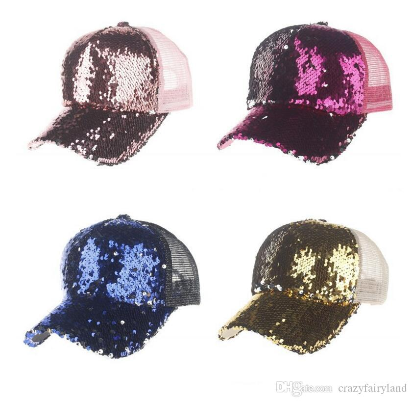 947cdbca1cafe6 2019 Summer Women Baseball Caps Sequins Mesh Cap Adjustable Fashion Hats  Snapback Sports Floral Paillette Adjustable Summer Girls Hats From  Crazyfairyland, ...