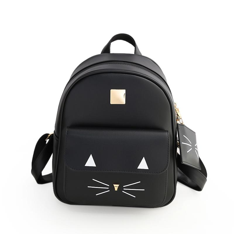 664185857569 ASDS Fashion Women s Cute Cat Backpack PU Leather Shoulder Bag School Bag  Casual Daypack Backpacks For School Laptop Backpacks From Shoesbuddy