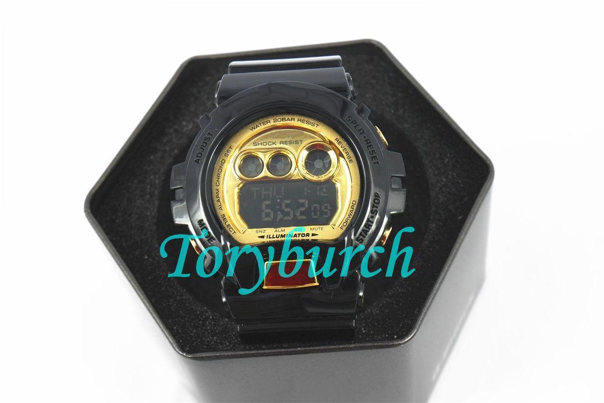 6900 высокого качества Новое поступления в 2018 авто света часов Relogio моды с коробкой мужских спортивных часами, все функции работы