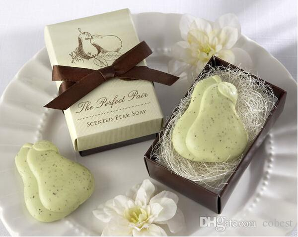Wedding Favors Gifts The Perfect Pair Pear Shaped Scented Soap
