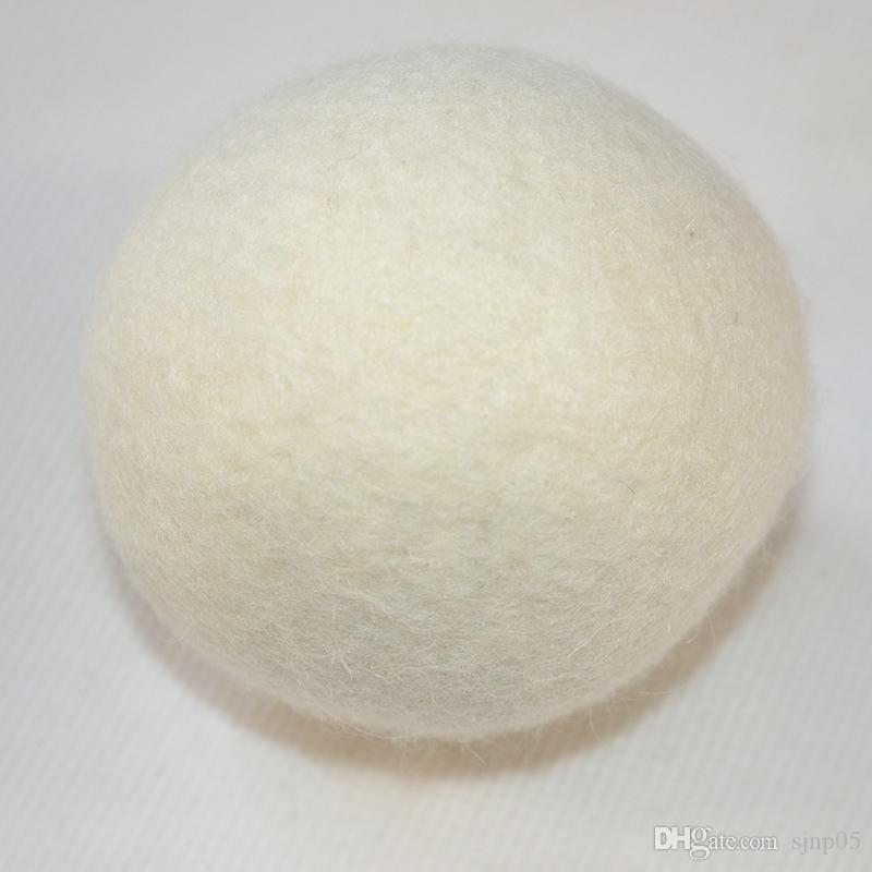 ورأى الصوف الطبيعي كرات مجفف 4-7CM كرات الغسيل قابلة لإعادة الاستخدام النسيج غير سامة المنقي يقلل من وقت التجفيف كرات بيضاء اللون