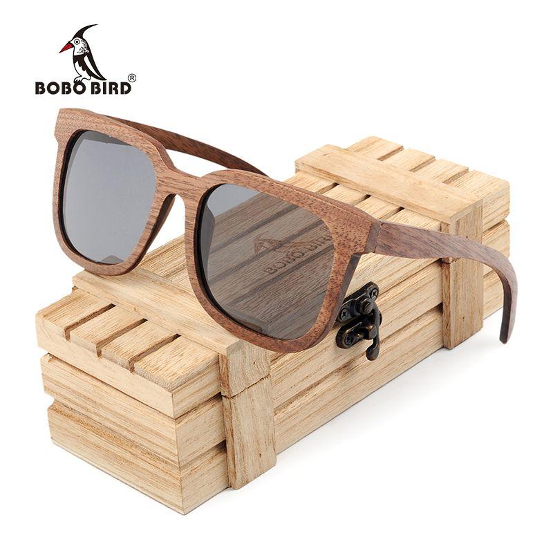 4eefd79d8a Compre BOBO BIRD Negro Nogal Hombres De Madera Gafas De Sol Polarizadas Vintage  Protección UV Gafas Mujer Gafas De Sol De Bambú En Caja De Regalo De Madera  ...