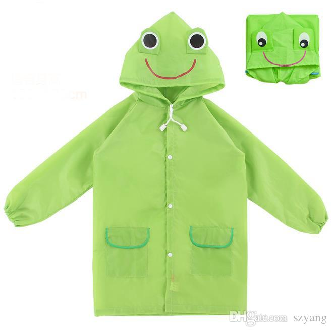 Linda Funny Rain Coat Kids Children Raincoat Rainwear Rainsuit Kids Waterproof Animal Raincoat HOT SN1068