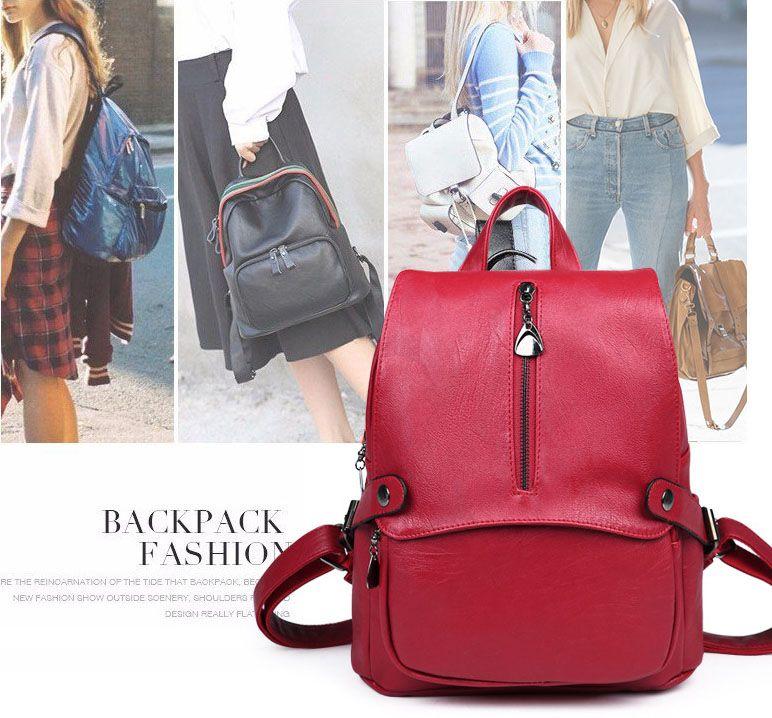 2018 высокое качество новая сумка мода плеча сумка мода покупки сплошной цвет рюкзак Бесплатная доставка