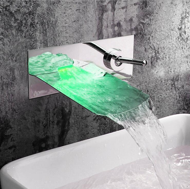 Online Cheap Copper Single Hole Sink Basin Faucet Wall Mounted,Brass ...