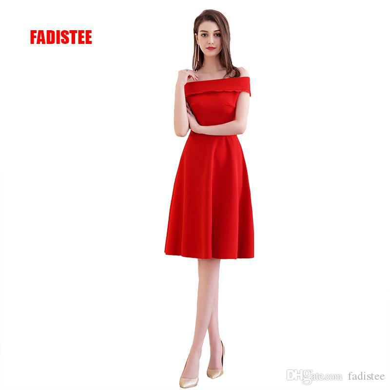4634a45496df 2018 venta caliente elegante vestidos de cóctel vestido de noche vestidos  de fiesta de satén corto una línea de barco moderno cuello con cordones ...
