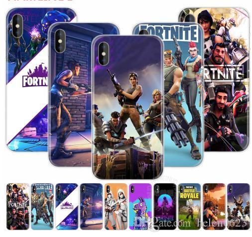 promo code 17a87 afbc4 Battle Royale fortnite cell phone Soft Silicone Cover Case for Apple iphone  X 8 7 6 4 4s 5 5s SE 5c 6s plus DHL Fast Ship