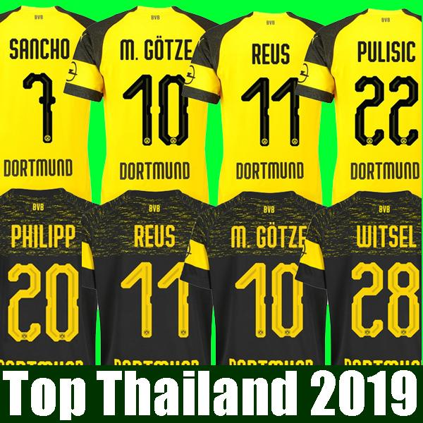 6a35b451128 Thailand Quality BVB Borussia Dortmund Soccer Jersey 2019 PHILIPP ...