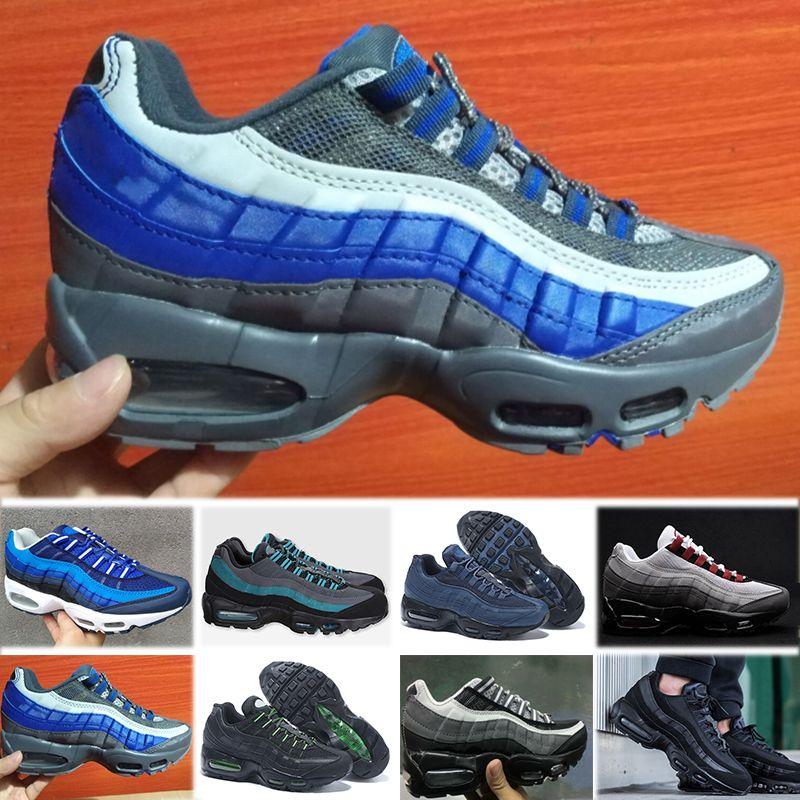 reputable site 21409 6f1d9 Acheter Nike Air Max 95 2018 Air Cushion 95 Tt Prm Chaussures De Course  Pour Hommes Femmes Sport Sneakers 95 Og Athletic Marche Entraîneurs Noir  Blanc ...