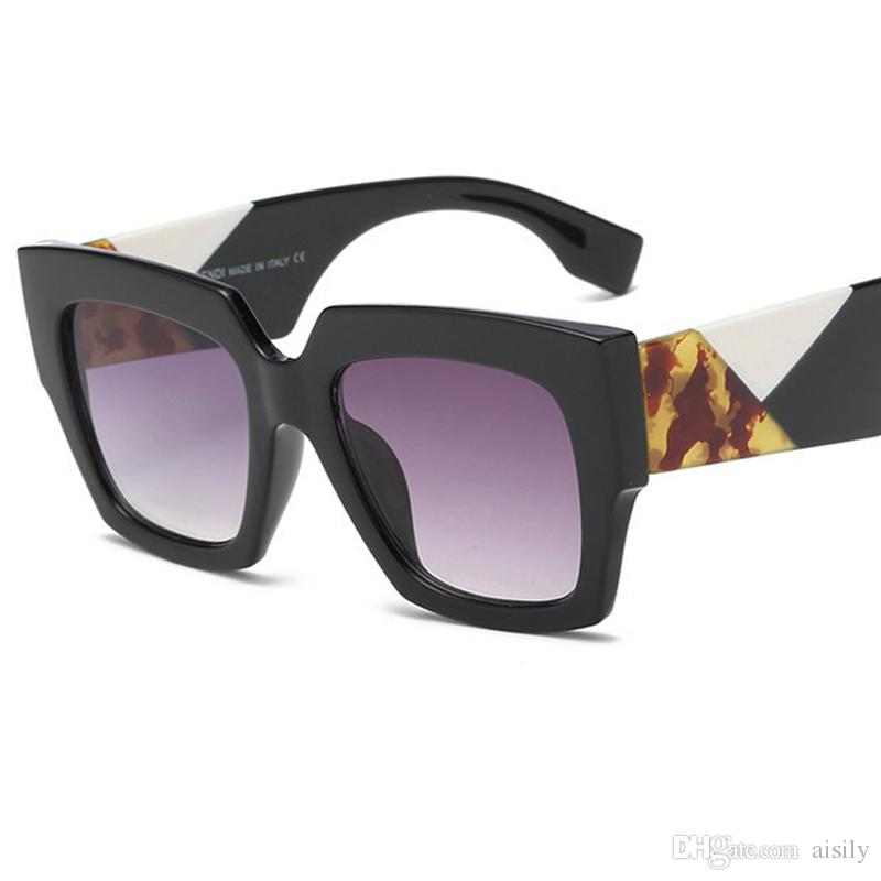 6c4456495f9 Women Fashion Square Sunglasses Women Vintage Brand Designer Sun Glasses  Clear Lens Large Frame Female Shades Oculos Gafas UV400 L161 Best Sunglasses  Dragon ...