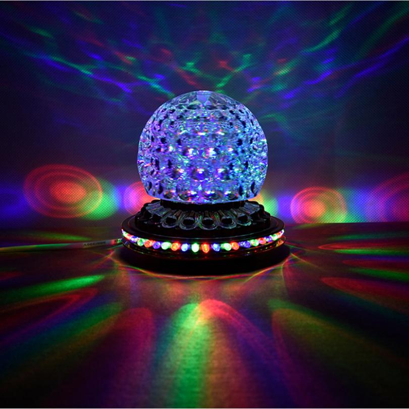 party lights dj disco ball lights rgb led stage rotating crystal