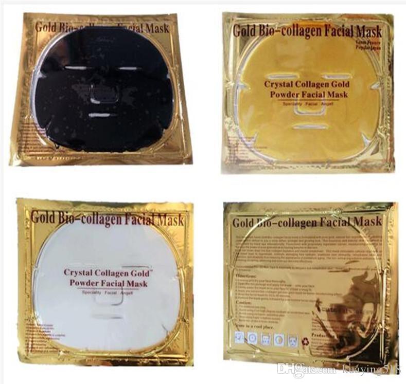 페이셜 마스크 골드 바이오 - 콜라겐 진흙 페이스 시트 마스크 황금 크리스탈 파우더 보습 안티 에이징 화이트닝 스킨 케어 스무니 한 아름다움 DHL