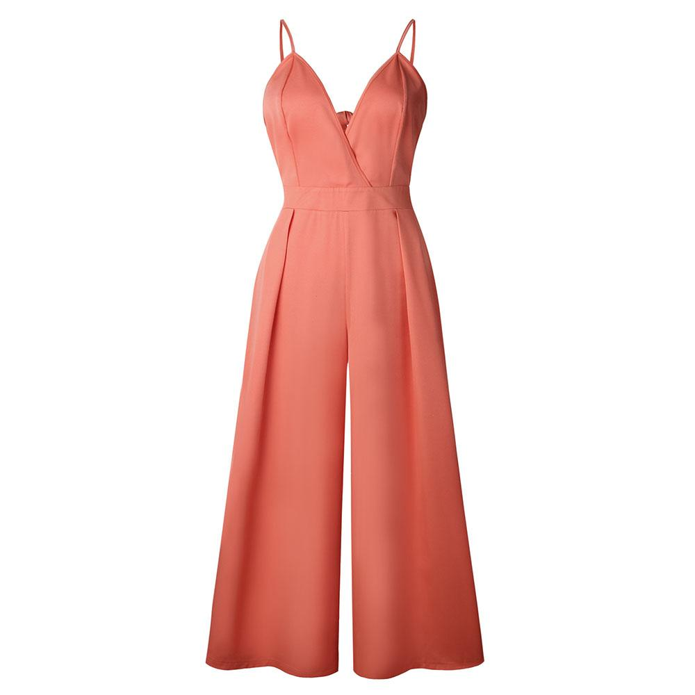 a397ff465d38 2019 Orange Rompers Womens Jumpsuit Woman Causal V Neck Back Bow Jumpsuit  Clubwear Party Playsuit Romper Backless Jumpsuits ONY0701 From Volontiers