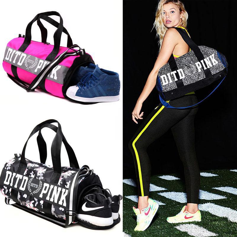 2018 Pink Gray Black Women Men Gym Bag Fitness Shoulder Gird Strip Travel  Bag Outdoor Yoga Bag With Shoes Storage Sac De Sport Best Yoga Mats Best  Yoga Mat ... b8043c9ef3ff