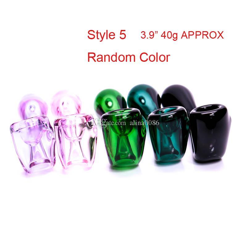 유리 숟가락 파이프 흡연 손으로 만든 유리 파이프로 만든 파이프 색상은 3.5