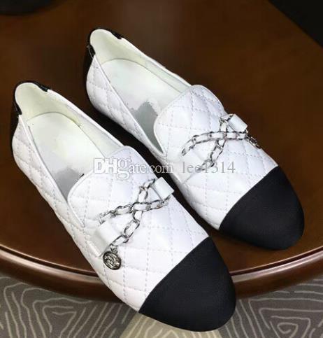 a2f35e55c01 New Fashion Sheepskin Casual Shoes Women s Flat Sheepskin Stitching ...