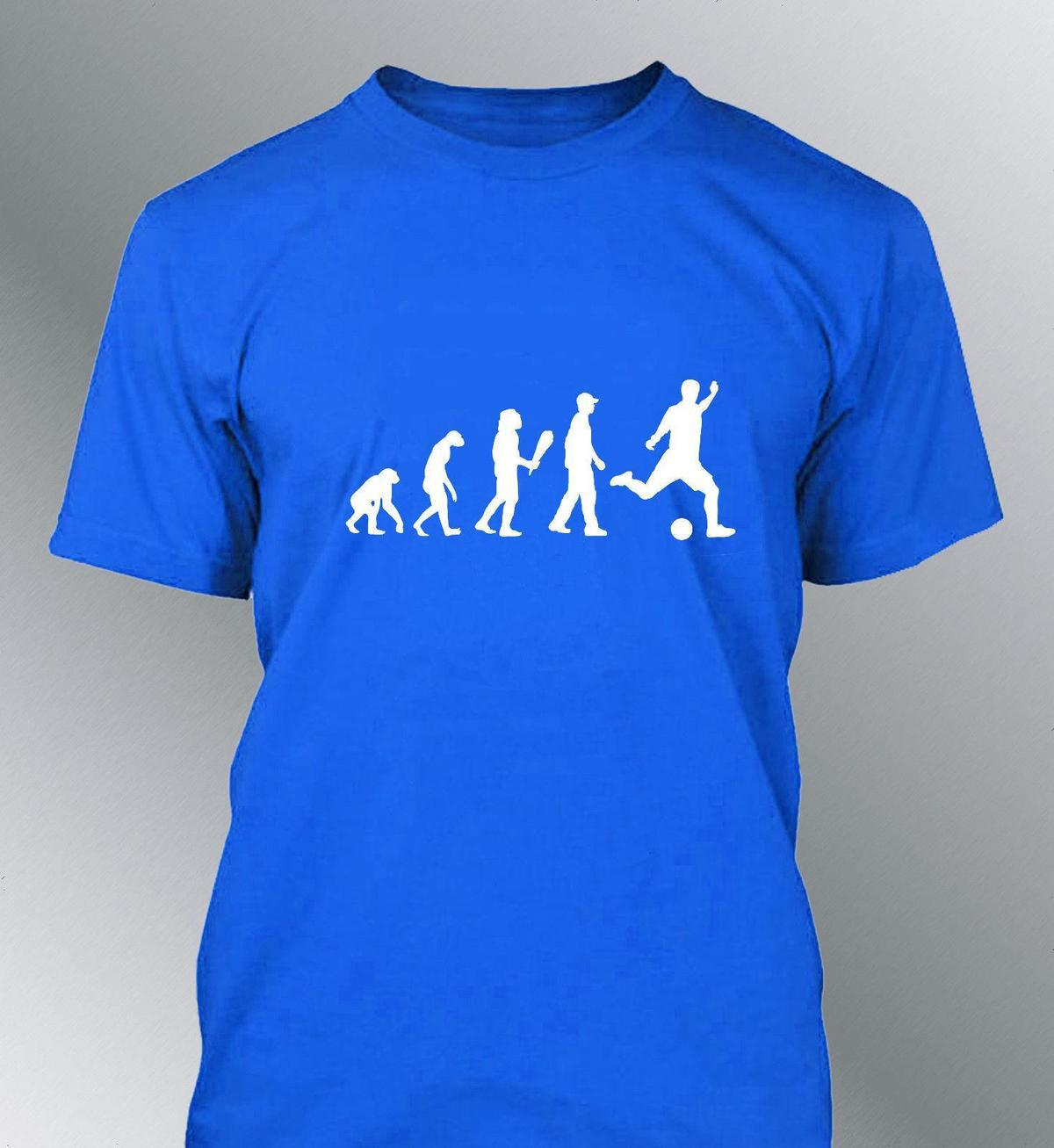 Tee Shirt Personnalise Homme Evolution Foot M L Xl Humour Human