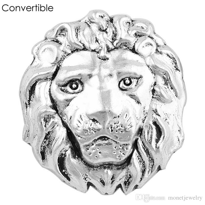 Rivca Metal animal cool inserts convertible alloy magnetic Brooch For men fit antique Scarf Clip Vintage Muslim pin Brooches for party