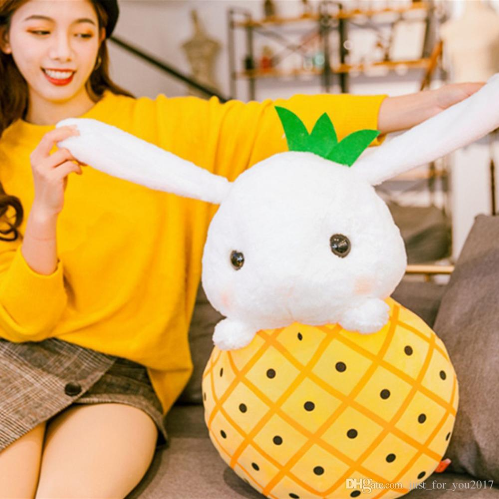 2019 Cartoon Soft Fruit Bunny Plush Toy Big Stuffed Anime Strawberry