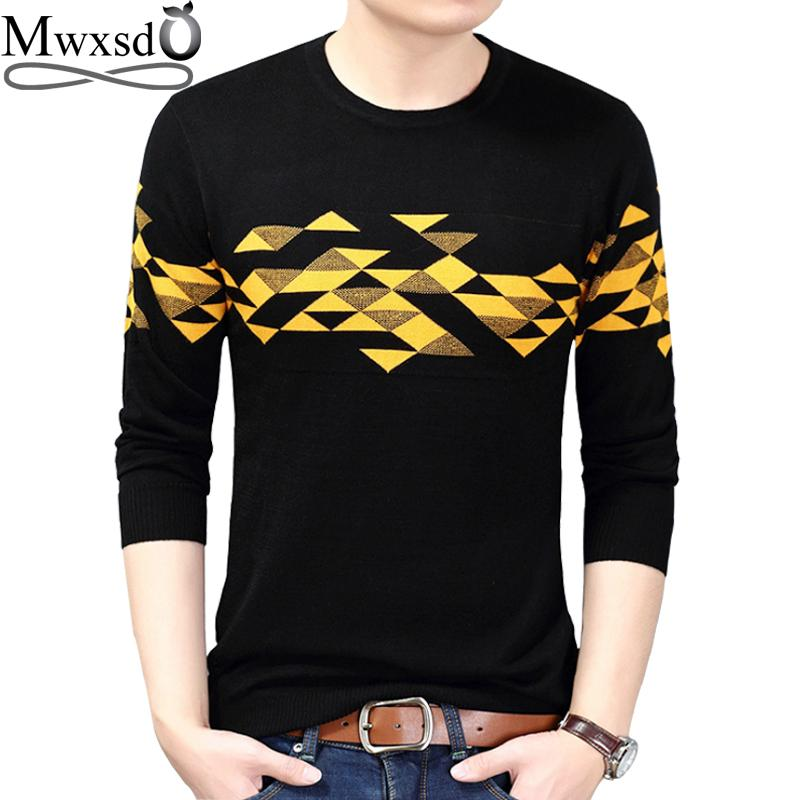 2019 Mwxsd Brand Men S Argyle Plaid Sweater Long Sleeve Pullovers For Male  Cashmere Jumpers Knitwear Men Christmas Sweater From Genguo eb410d909e69