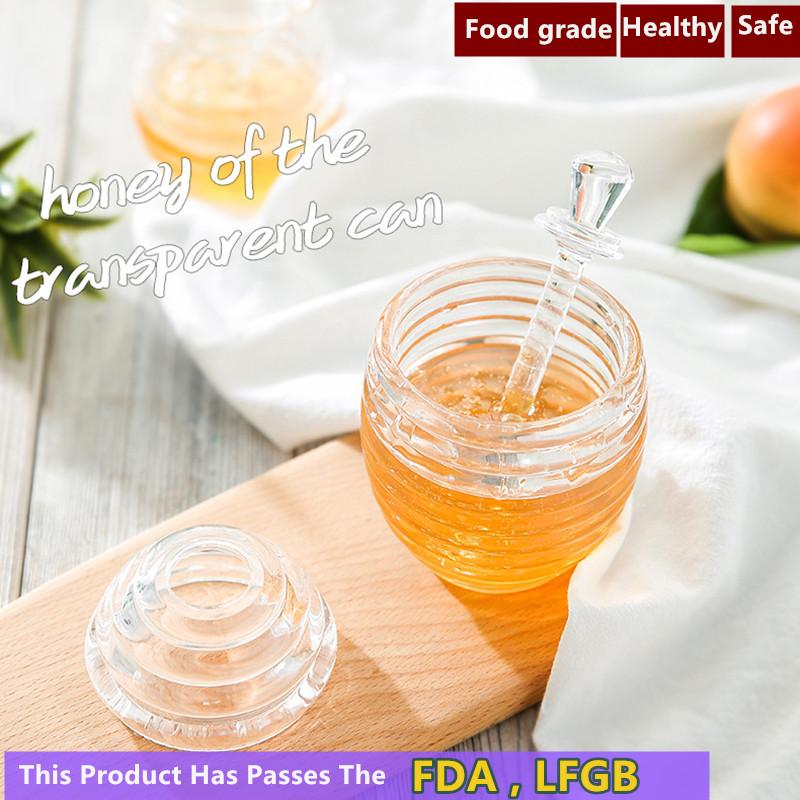 QuickDone Honey Pot Acrylic Apple Strawberry Jam Bottle Breakfast Jams Storage Condiment Seasoning Pots Oil Bottles CF08