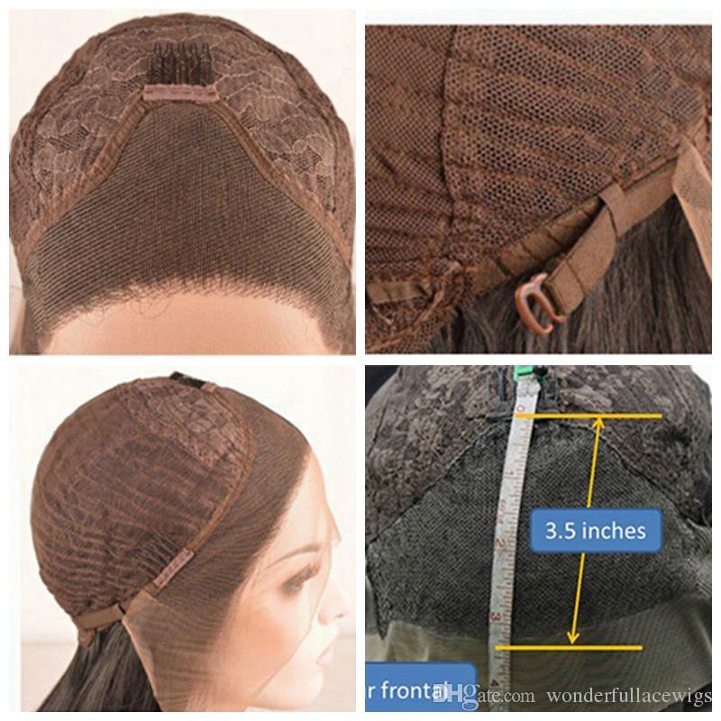 Синтетические кружева фронт парик тела волна средней части природных волосяного покрова темные корни Ombre волос Блондинка женщин кружева передние парики