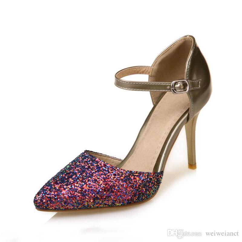 1235cb37e29701 Femme À Talons Acheter HautsPaillettes Sexy Chaussures TFK13clJ