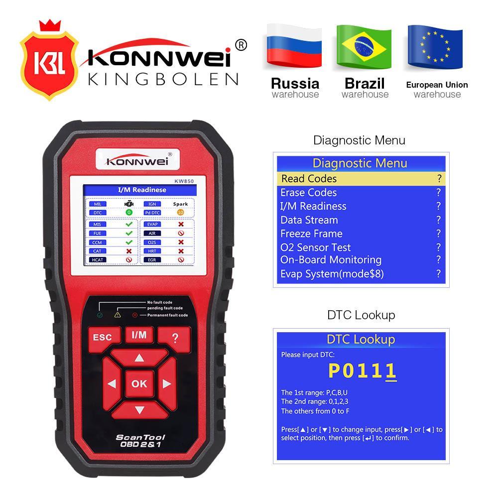 Großhandel Konnwei Kw850 Voll Obd2 Auto Diagnose Tool Kw 850 Obdii ...