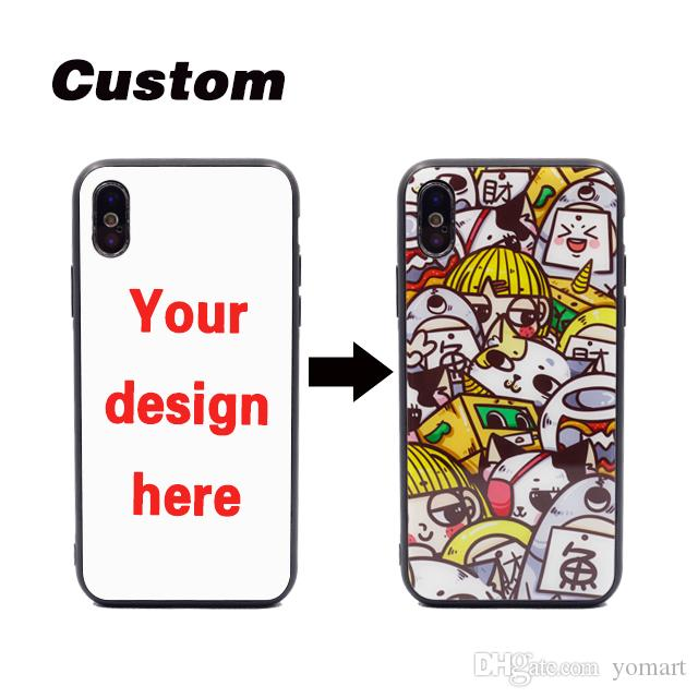 separation shoes 79bac 77f65 for Huawei p20 pro p10 mate10 Honor 9 Custom design tempered glass tpu  scratch proof phone case for xiaomi 8 mix3 mi6 redmi 6 printing logo