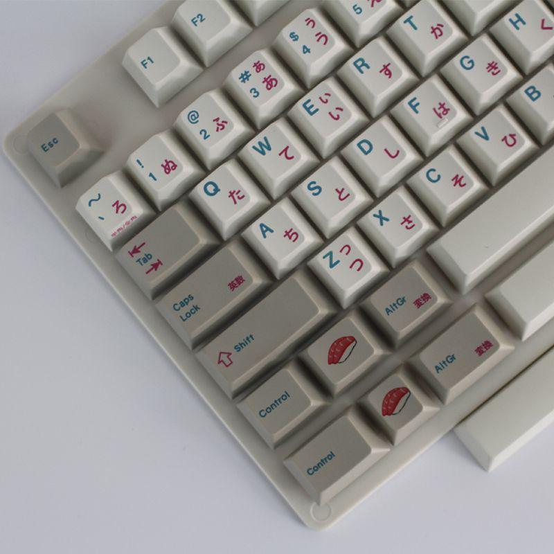 Pre order Enjoypbt keyboard mechanical keyboard keyboarded hot 117 keycaps  Japanese keycaps Dye-Subbed Keycap Set cmyw rgby