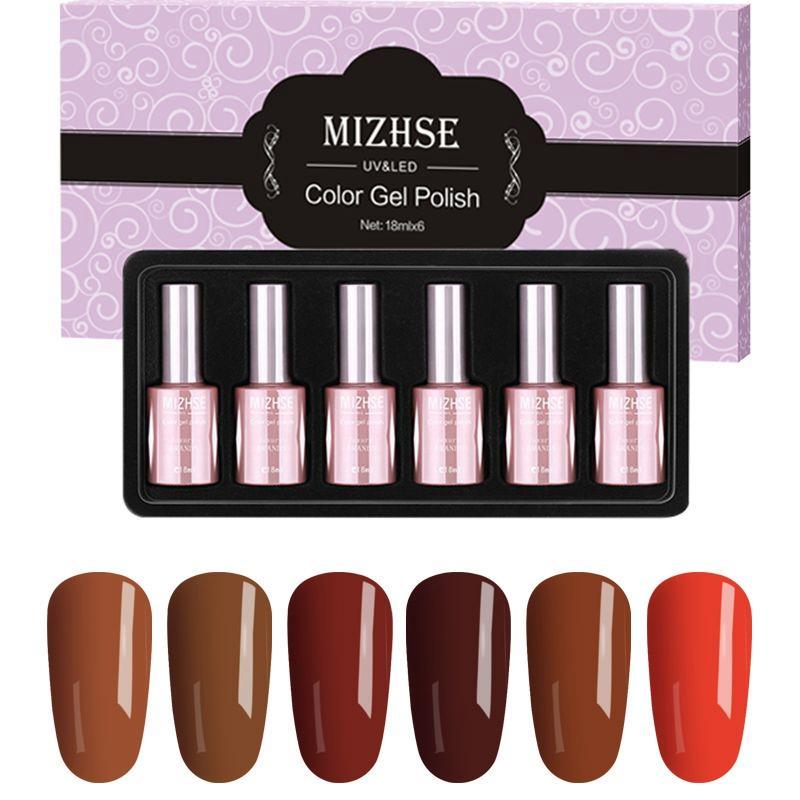 acheter mizhse 18ml brun vernis À ongles semipermanente gel base