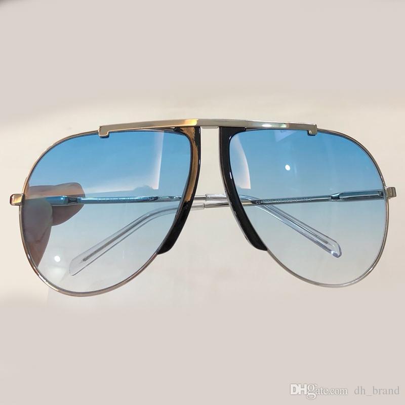 299380019e 2018 Women Metal Frame Retro Oval Pilot Sunglasses Full Frame Women ...