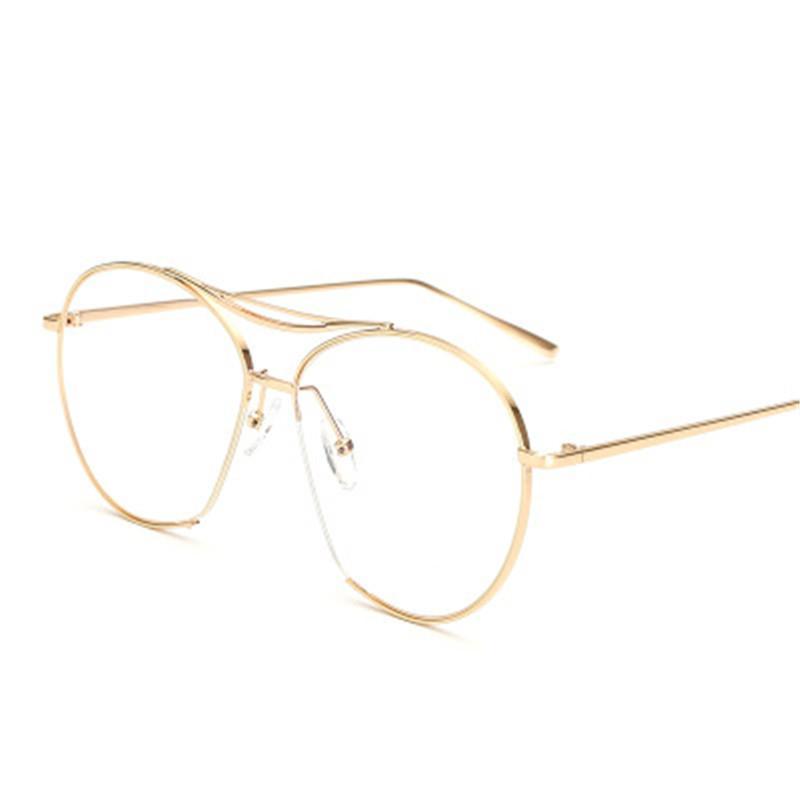 351b575d97 2019 Titanium Round Double Beams Cut Frame Unisex Glasses Retro Eyeglasses  Optical Prescription Men Women Fashion With Myopia Frames From Shuidianba