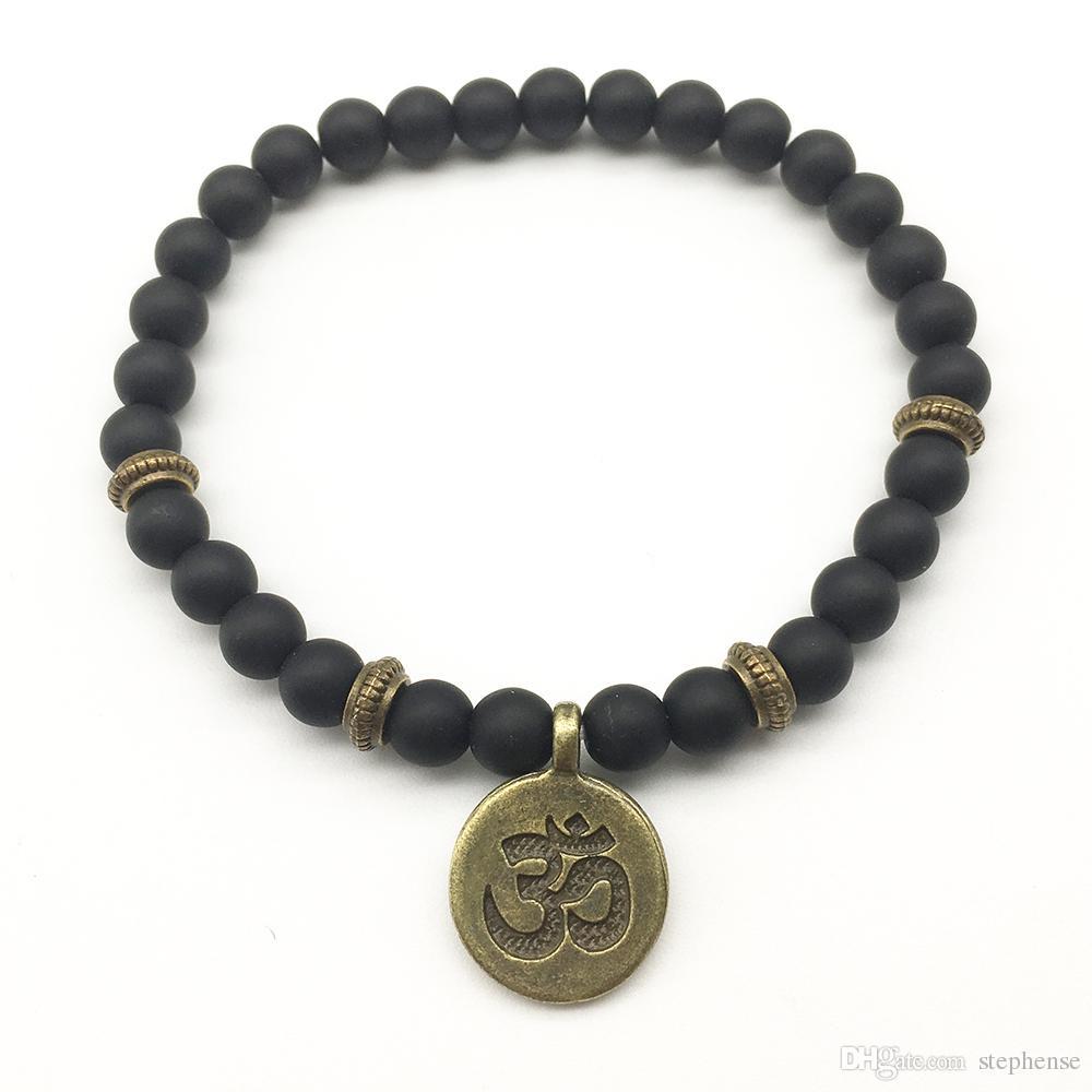 SN1271 Na Venda Buddha Ohm Pulseira Definir Pulseira de Ioga Pulseira Fashiopn Do Vintage Do Projeto Dos Homens Nova Chegada de Jóias Por Atacado