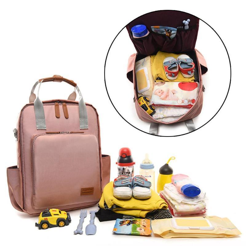 495f907873 Waterproof Shoulder Back Bag For Women Mommy Maternity Backpack Nursing  Baby Care Bags Fashion Lady Linen Leather Rucksack Tactical Backpack Ogio  Backpack ...