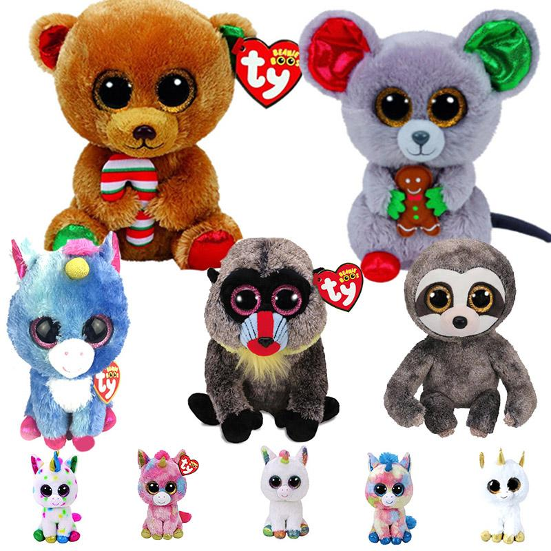 Ty Beanie Boos 6 15cm Christmas Bear Mouse Elk Poodle Owl Fish Bunny  Penguin Turtle Lamb Plush Big Eyed Stuffed Animal Doll Toy UK 2019 From  Humom d2bfe3f06d1