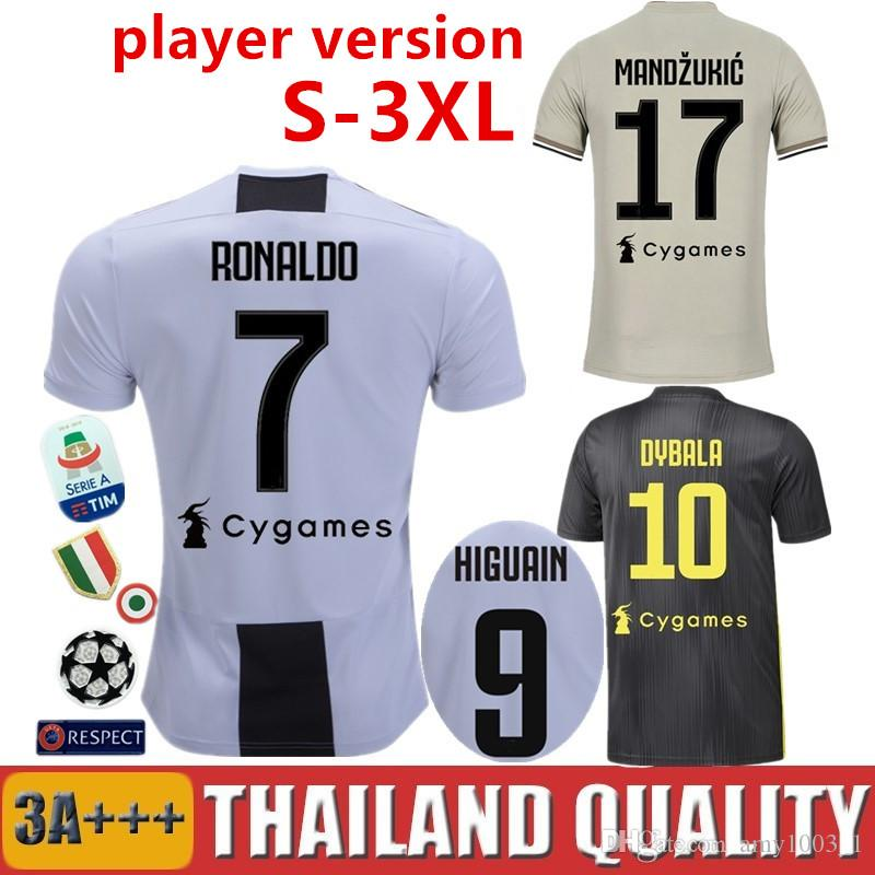8a26409fb55 Player Version 18 19 RONALDO DYBALA HIGUAIN BERNARDESCHI Juventus ...