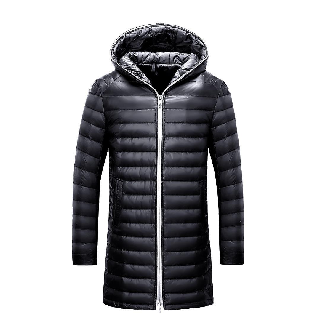 Mit 2018 und Männer Kleidung Mode Ente Kapuze Leichte Daunenjacken neue Feste Daunenjacke 3XL Autum Winter Mann Lange ON0P8nwXk