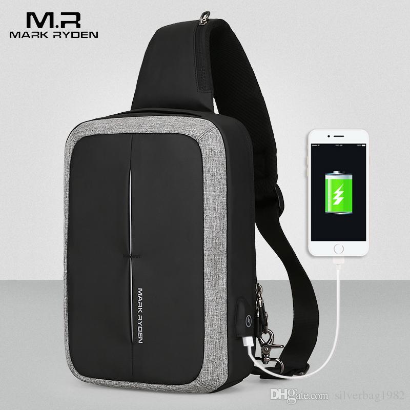 ecc9cd37a325 Mark Ryden New Men Crossbody Bag Business Shoulder Bag High Capacity Chest  Bag USB Recharging Design Men Crossbody Bag Business Shoulder Bag Capacity  Chest ...