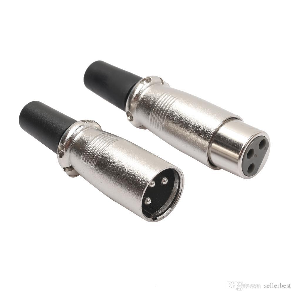 XLR 3 контактный мужской женский микрофон аудио микрофон кабель разъем легко подходят для подключения микрофонов