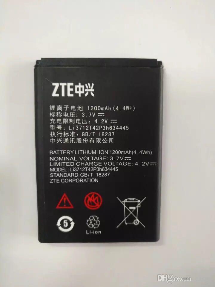 Pil ZTE V185W G 3.7 V 1200 mAh ZTE L530G Için Yüksek Kalite Li-Ion Yedek Piller pil Li3712742P3h634445 akku