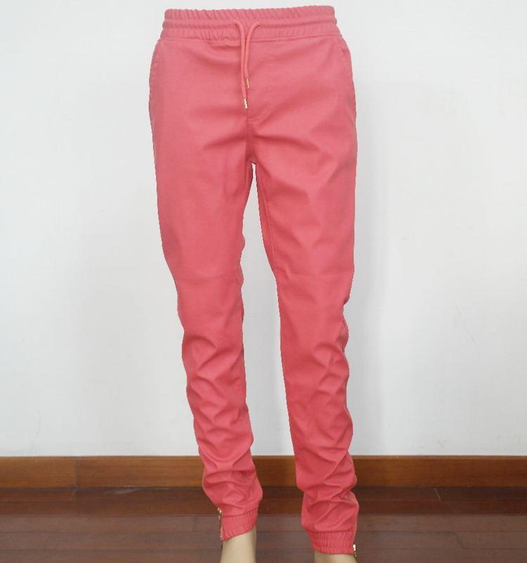 3005f96b7 Compre Nuevo Diseño Tamaño EE. UU. Hiphop Joggers Red Pu Cortavientos  Pantalones Elásticos Cintura Cremallera Dobladillo Pantalones Streetwear  Pantalones De ...